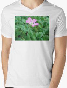 Five Petal Flower Mens V-Neck T-Shirt