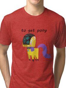 BBFFF Style Rarity, Daft punk version Tri-blend T-Shirt