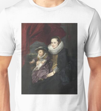 Anthony Van Dyck - Portrait Of A Woman And Child Unisex T-Shirt