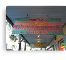 Key West Jimmy Buffet Margaritaville Store Canvas Print