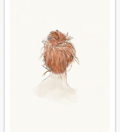 The Red-Haired Girl Sticker