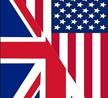 American and Union Jack Flag by sale
