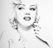 Marilyn Monroe Minimal Portrait by IleanaHunterArt