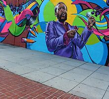 Marvin Gaye -- The New Hometown Mural by Cora Wandel