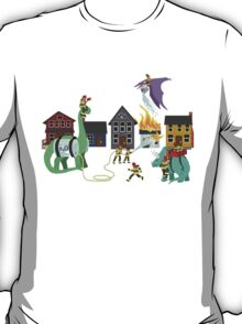 Firefighters and Dinosaurs, Together at Last T-Shirt