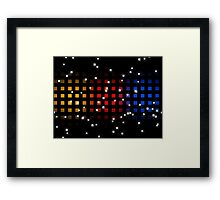Primary Disco Framed Print