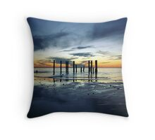 Twilight at Port Willunga Throw Pillow