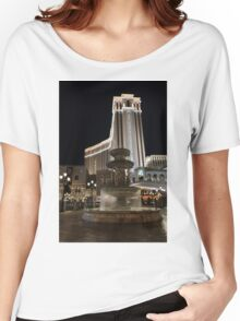 Night Glow at the Venetian Las Vegas Women's Relaxed Fit T-Shirt