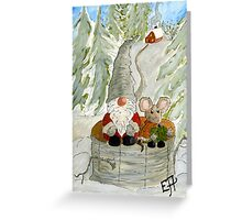 Gnome and Mouse Greeting Card