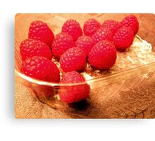 Fresh raspberries any time! Canvas Print