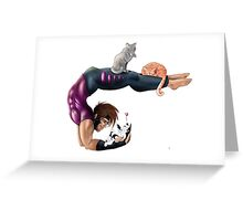Gambit Morning Stretch Greeting Card