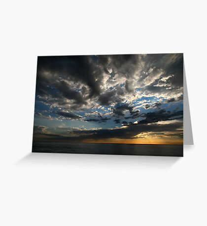 Dusk Clouds Greeting Card