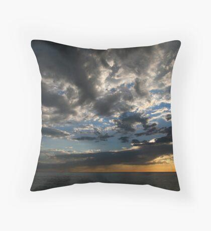 Dusk Clouds Throw Pillow