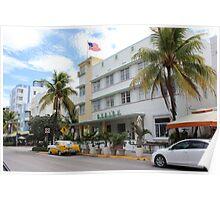 Art Deco, South Miami Beach, Florida, USA Poster