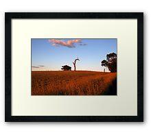 Sunburnt Australia Framed Print
