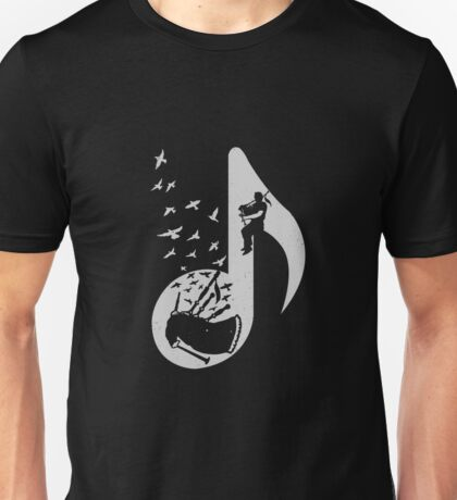 Musical Note - Bagpipes Unisex T-Shirt