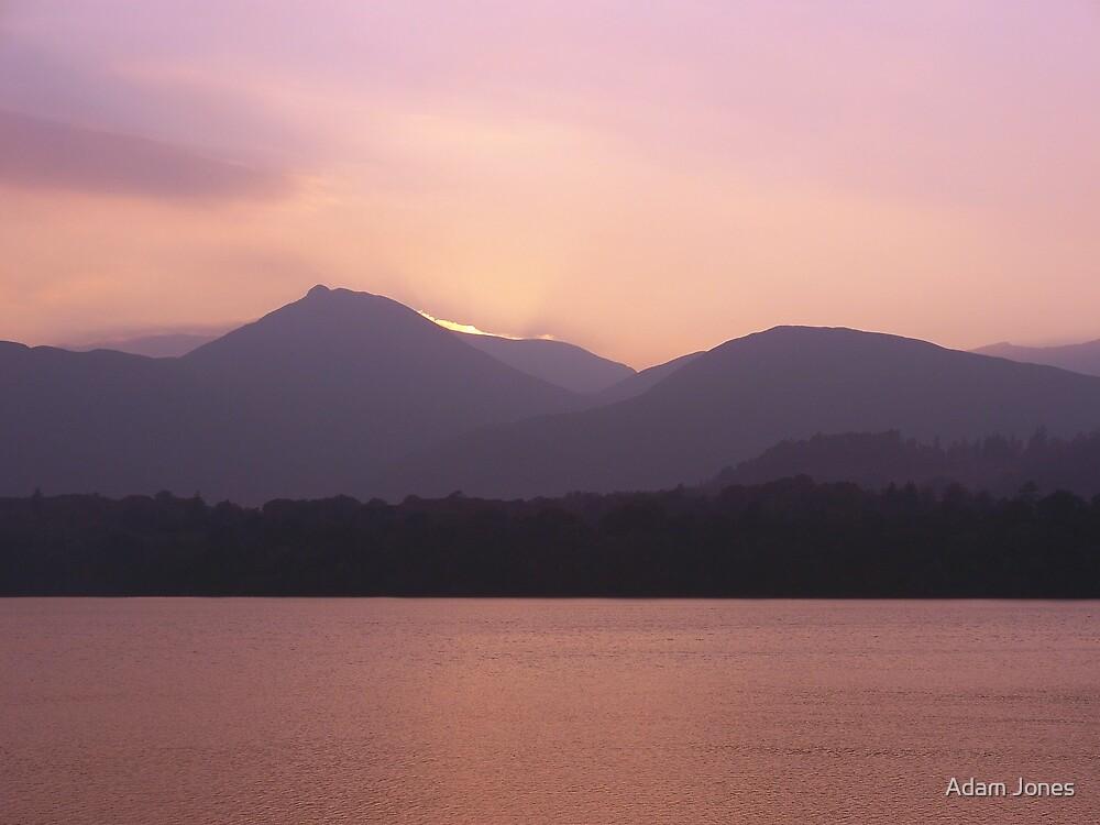 Lake At Sunset by Adam Jones