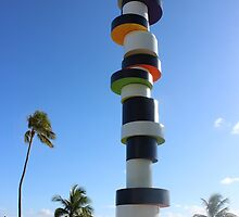 South Beach Miami modern outside sculpture by SlavicaB