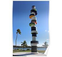 South Beach Miami modern outside sculpture Poster