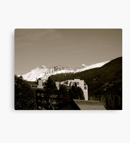 Keystone on Willows Canvas Print