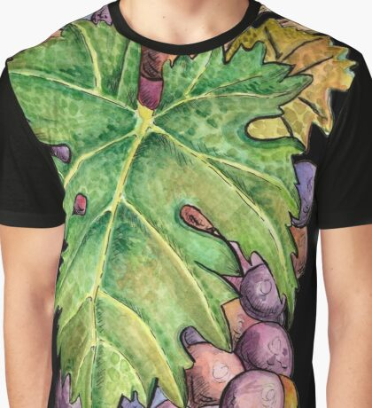 Colorful Wine Grapes Graphic T-Shirt