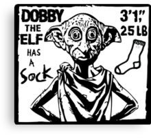 Dobby The Elf Has A Sock Canvas Print