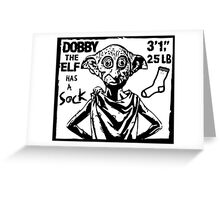 Dobby The Elf Has A Sock Greeting Card