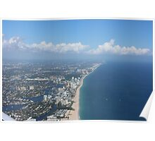 Fort Lauderdale beach view from plane Poster