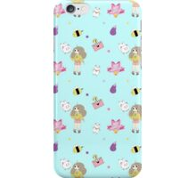 Bee and puppycat pattern iPhone Case/Skin