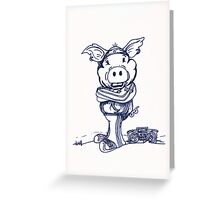 Mofo Pig Greeting Card