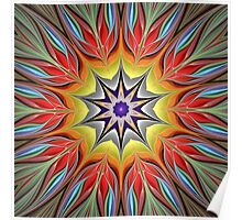 A paradise of Color Kaleidoscope Poster