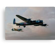 Two Icons - Lancaster and Spitfire Canvas Print