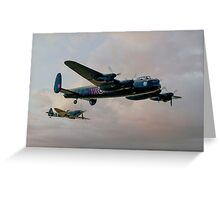 Two Icons - Lancaster and Spitfire Greeting Card