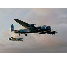 Two Icons - Lancaster and Spitfire Photographic Print