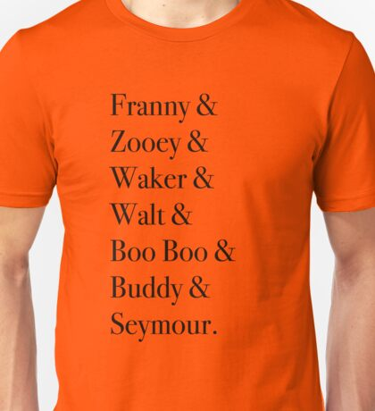 JD Salinger's Glass Family Unisex T-Shirt