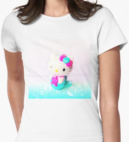 Mermaid Kitty Womens Fitted T-Shirt