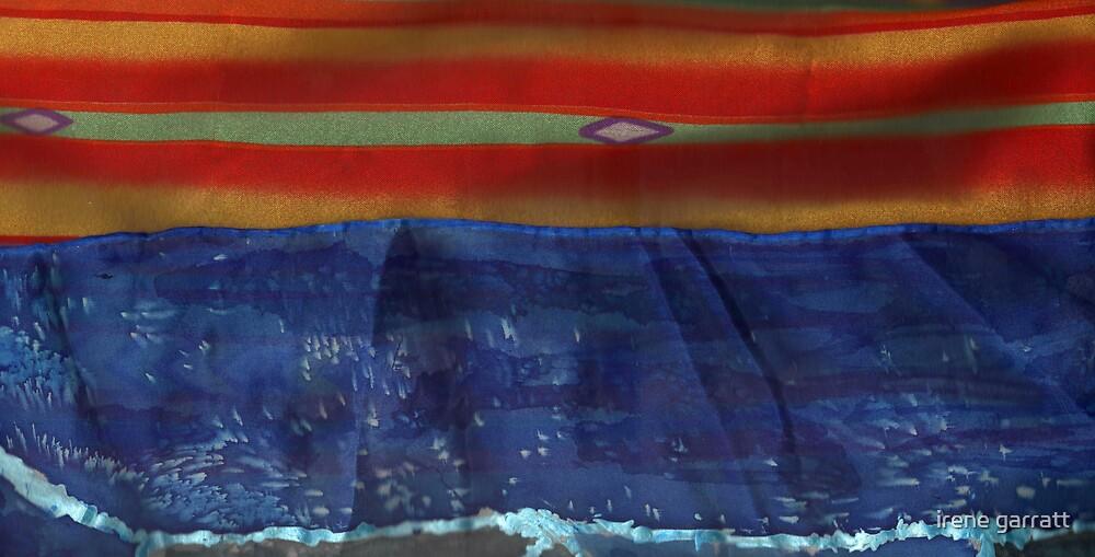 A seacape in silk by irene garratt