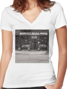 McSorley's Old Ale House Women's Fitted V-Neck T-Shirt