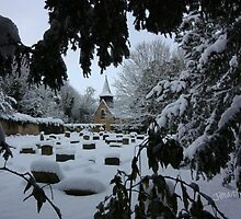 St Helen's Church in Snow by Jonathan Cox