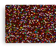 Chocolate and Sprinkles Canvas Print