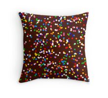Chocolate and Sprinkles Throw Pillow