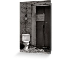 The Electric Outhouse Greeting Card