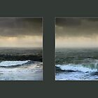 Stormy seas in colour series by Paul Davenport