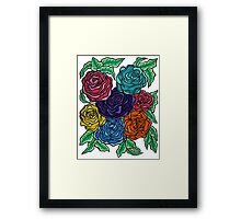 A Rose by Any Other Name - Oil Pastels on Watercolor Paper Framed Print