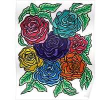 A Rose by Any Other Name - Oil Pastels on Watercolor Paper Poster