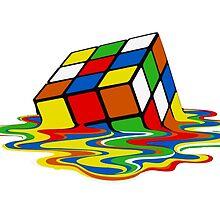 Melting Rubics Cube Geek by reelpartyt-shir