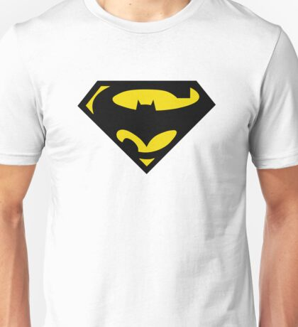 SuperBat - LOGO / SYMBOL Design (BLACK AND YELLOW) Unisex T-Shirt
