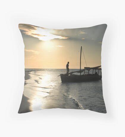 Sunset cruise Throw Pillow