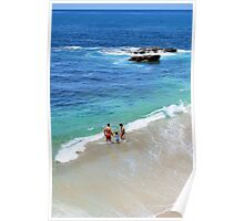 Family Day at the Beach Poster