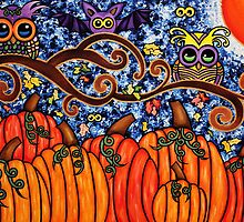 hOWLween - Acrylic on Canvas by Lindsay Carpenter. by morningcoffee